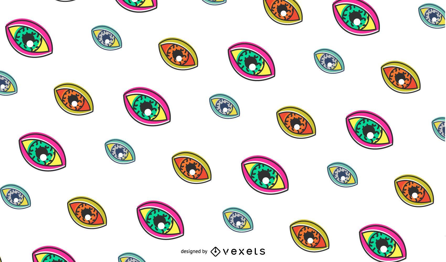 Retro eyes pattern design