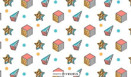 Memphis retro pattern design