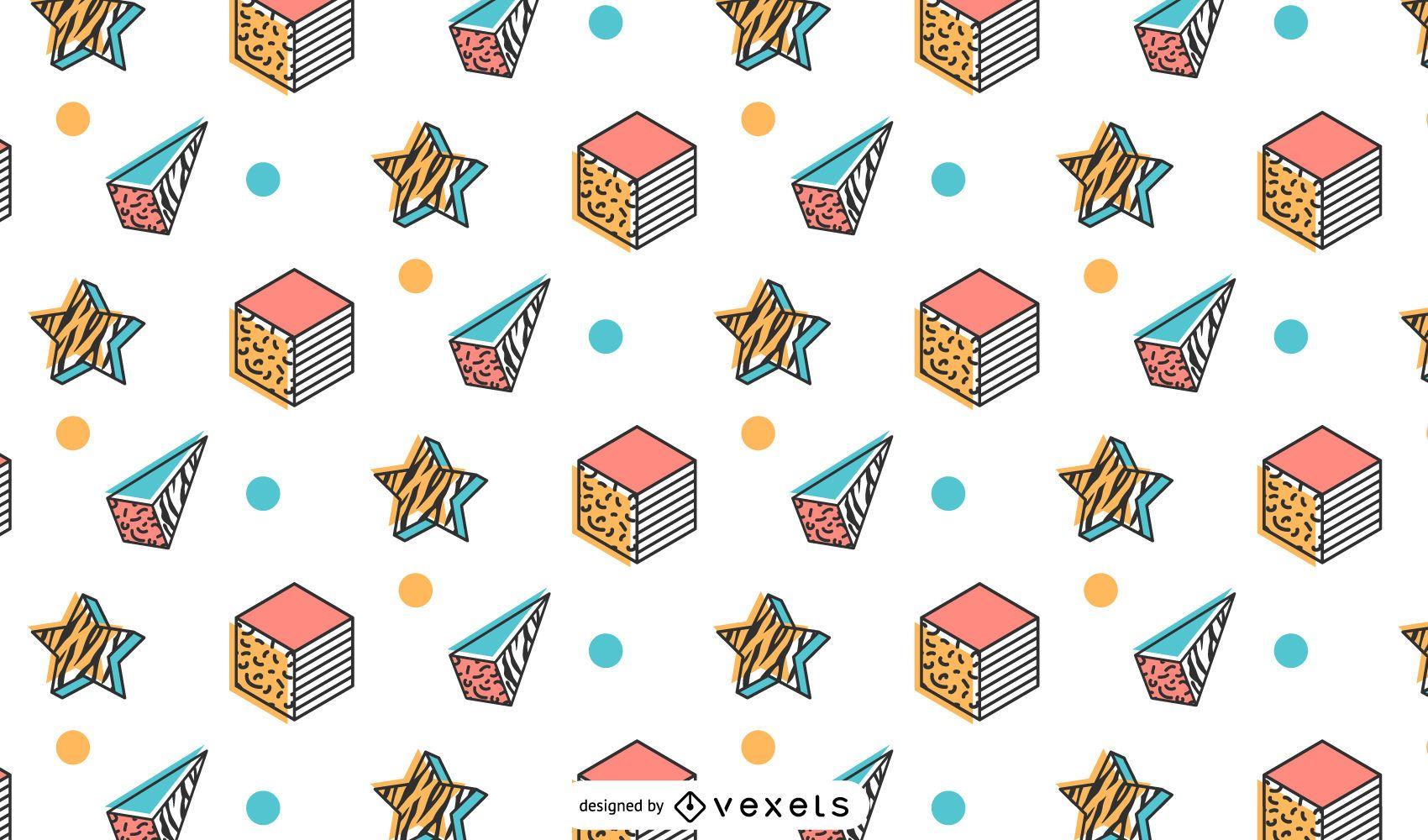 Memphis retro pattern design
