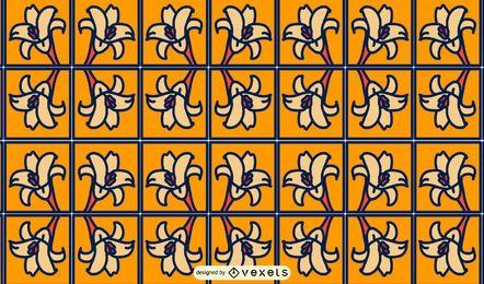 Diseño de patrón de cuadrados de flores