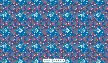 Colorful floral vintage pattern design