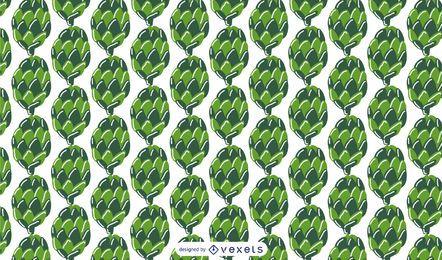 Diseño de patrón de conos de pino verde
