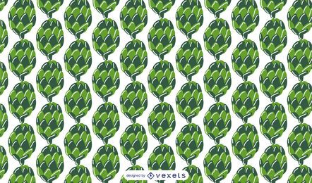 Green pine cones pattern design