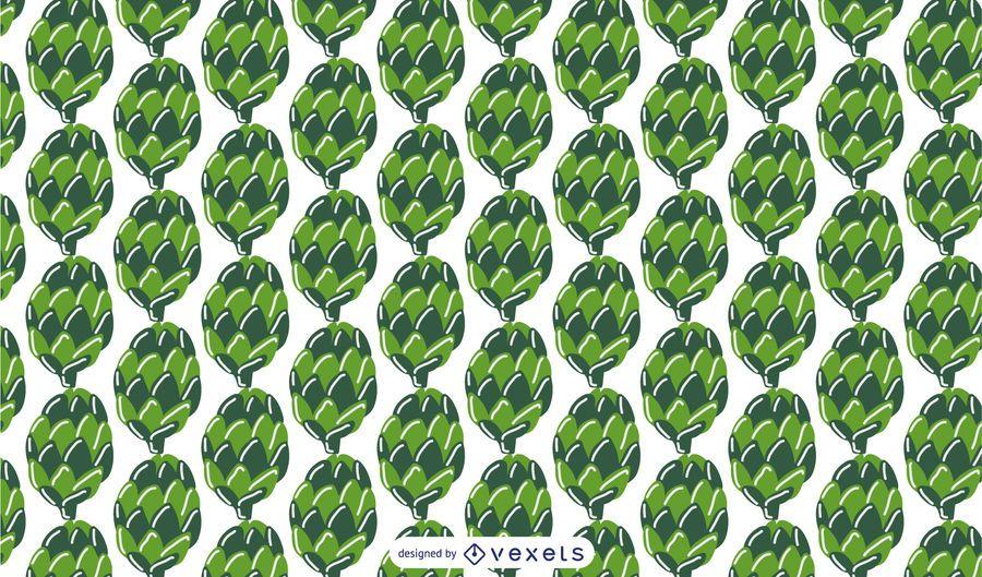 Green pine cones pattern design