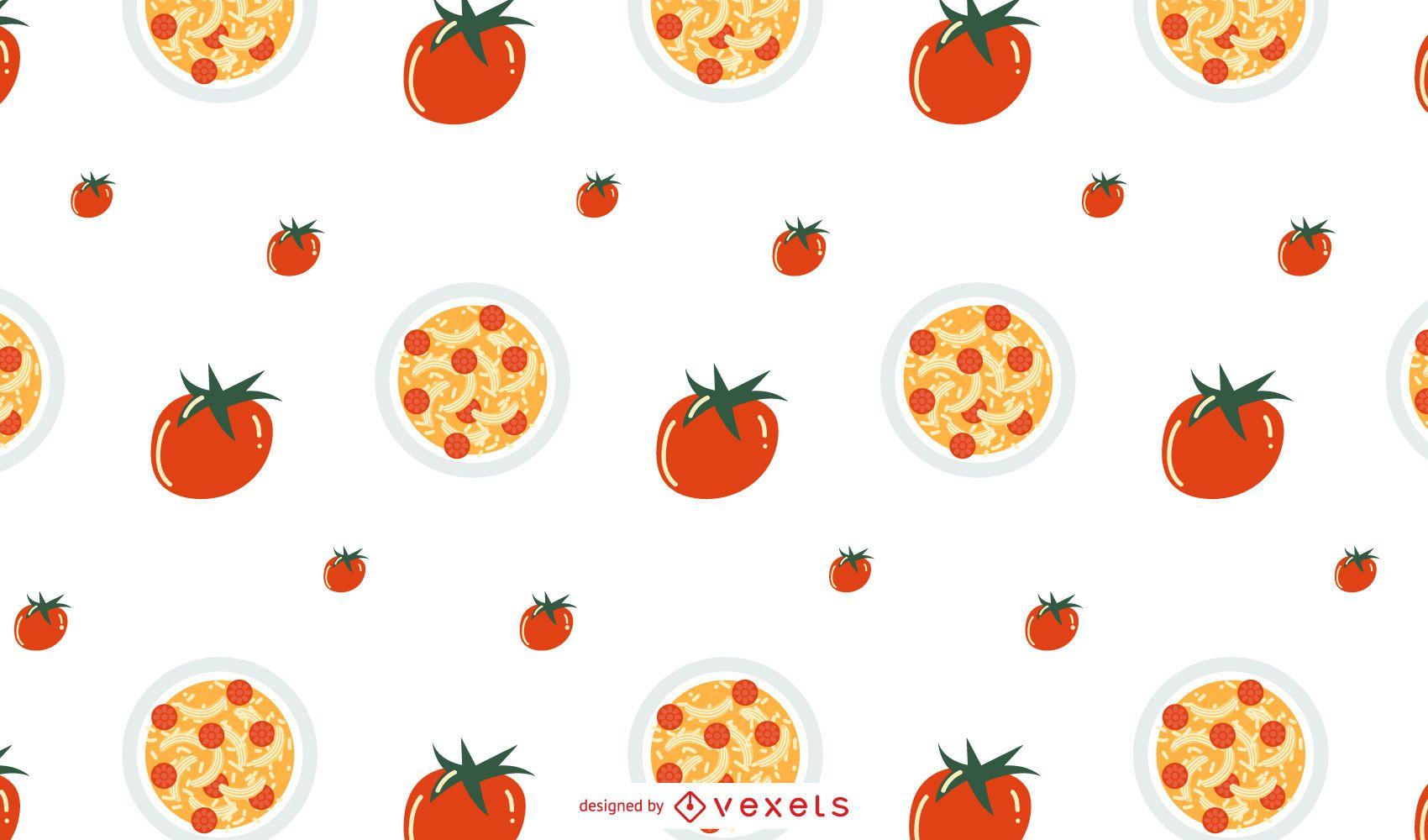 Tomato pasta pattern design