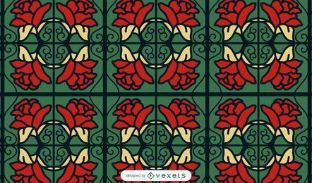 Design de padrão de rosas vermelhas