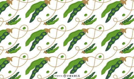 Peas pattern design