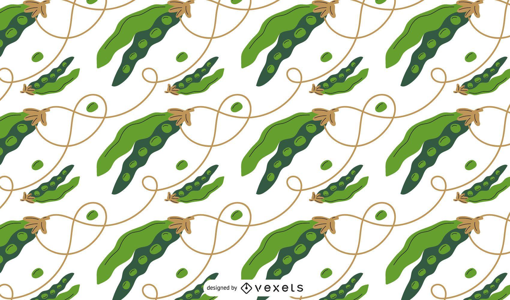 Peas pattern design