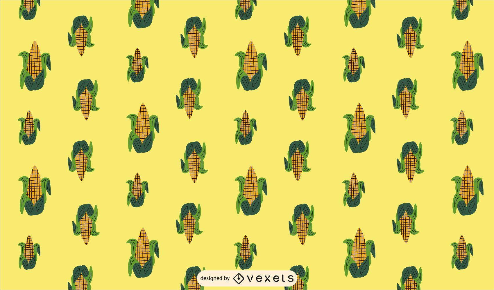 Diseño de patrón de maíz