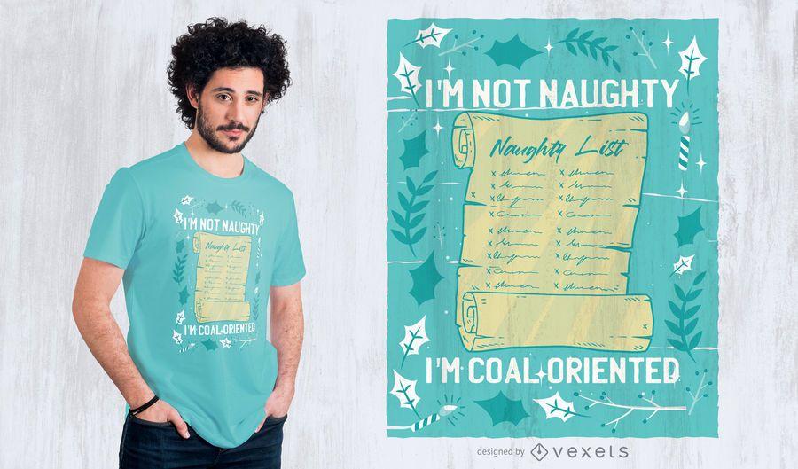Naughty list t-shirt design