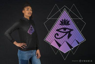 Diseño de camiseta geométrica egipcia