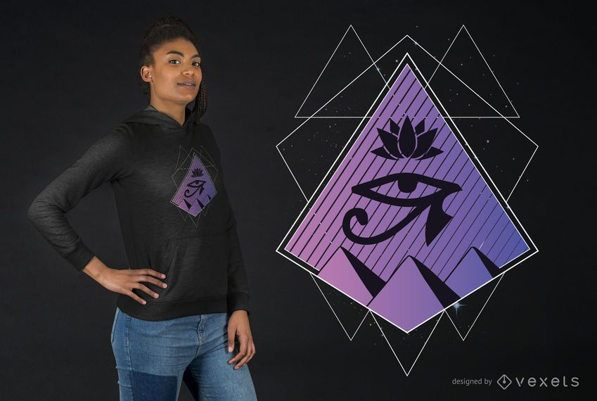 Design de camiseta geométrica egípcia