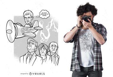 Design de camiseta de Edward snowden