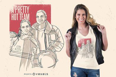 Design de camiseta muito quente da equipe
