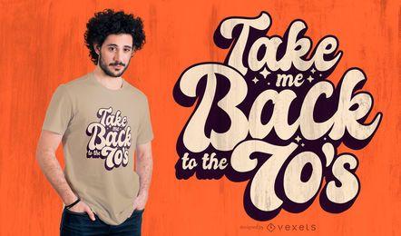 Diseño de camiseta de regreso a los 70