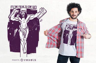 Diseño de camiseta de jesus enojado