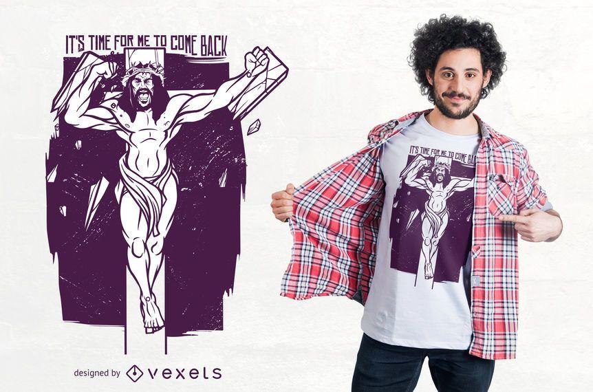 Design de t-shirt com raiva de jesus
