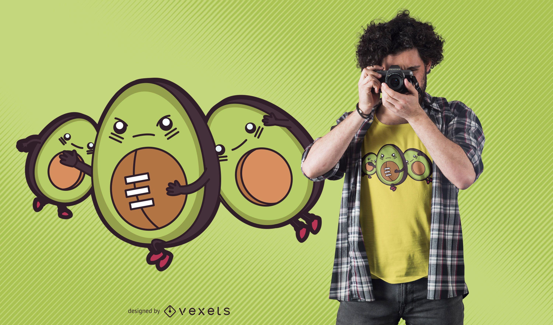 Avocado football t-shirt design