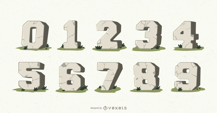 Stone numbers vector set