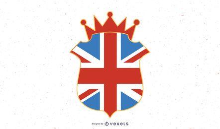 Ilustração do emblema do Reino Unido