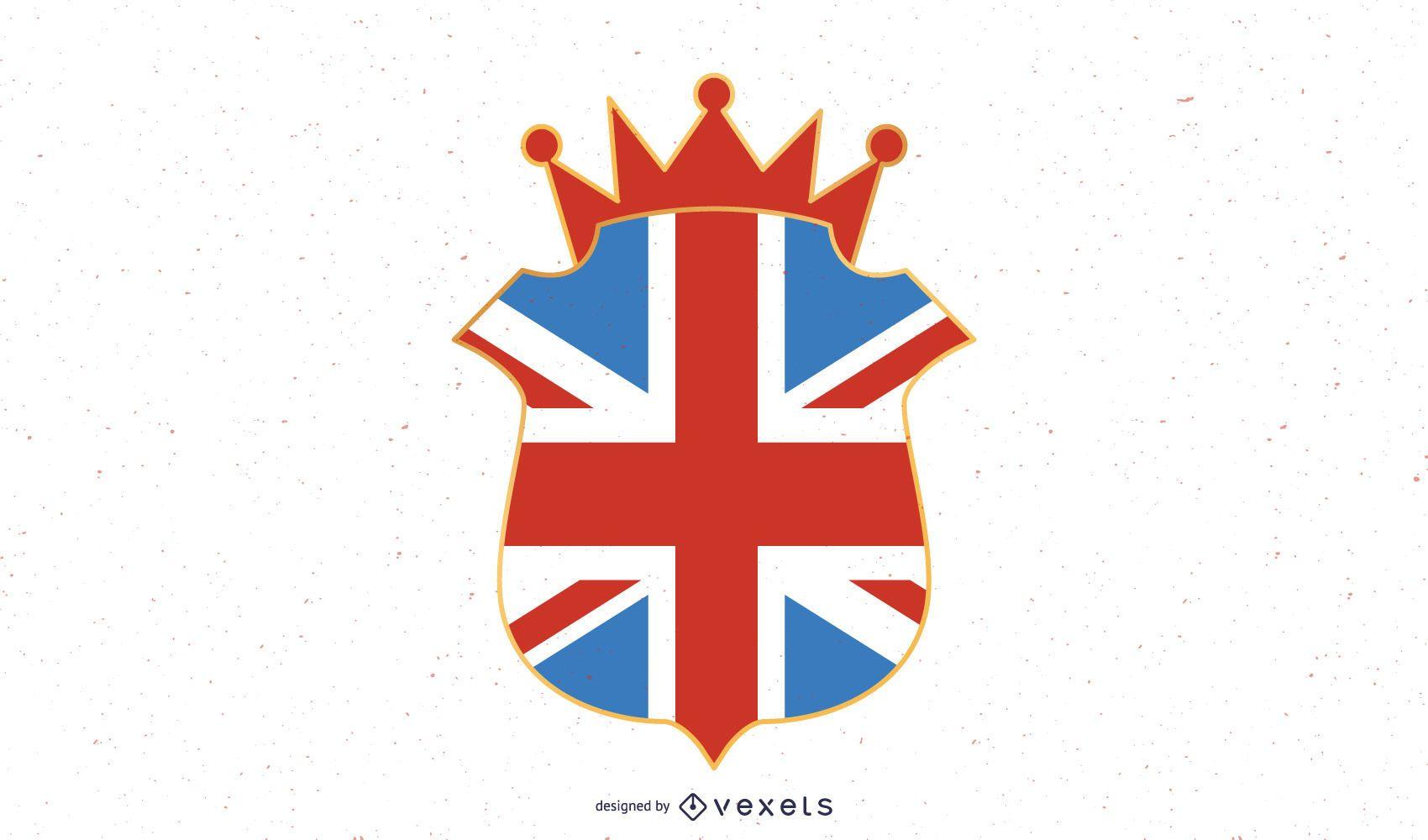 Ilustraci?n del emblema del Reino Unido