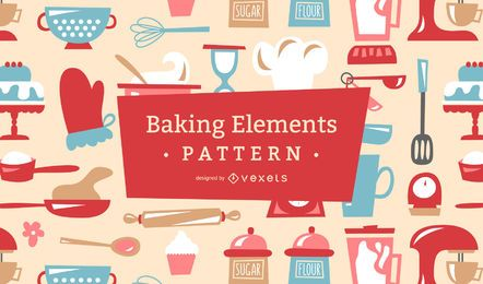 Baking retro pattern design