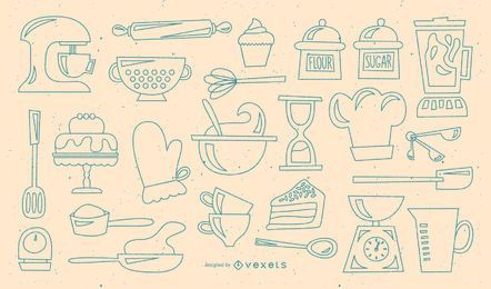 Baking retro stroke collection
