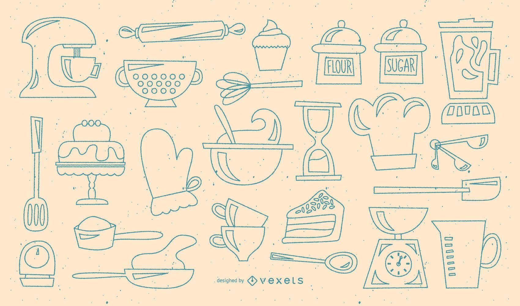Baking retro stroke collection