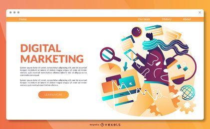 Vorlage für digitale Marketing-Landingpage