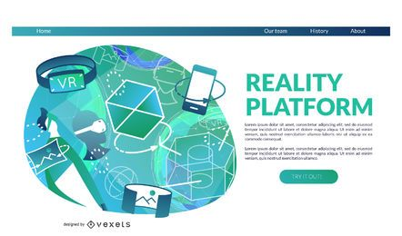 Reality platform landing page template