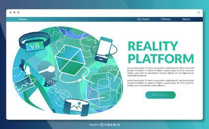 Plantilla de página de aterrizaje de plataforma de realidad