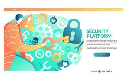 Security platform landing page template