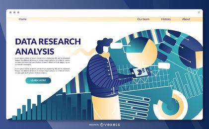 Modelo de página de destino de pesquisa de dados