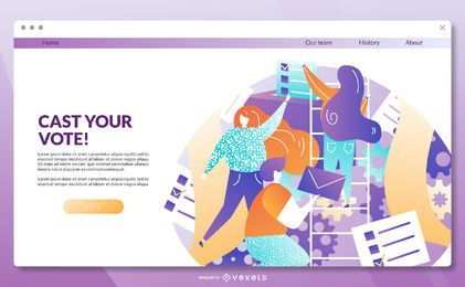 Vote landing page template
