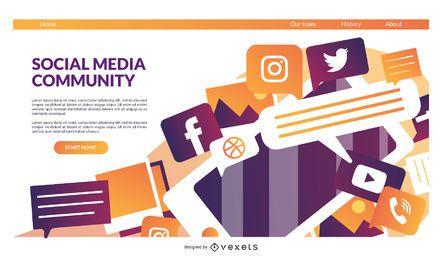Plantilla de página de destino de redes sociales