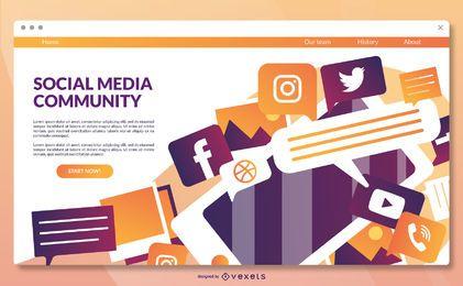 Social-Media-Landingpage-Vorlage
