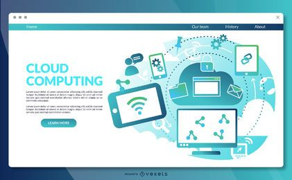 Cloud computing landing page template