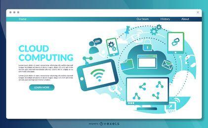 Plantilla de página de aterrizaje de computación en la nube