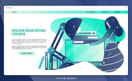 Online-Bildung Landingpage-Vorlage