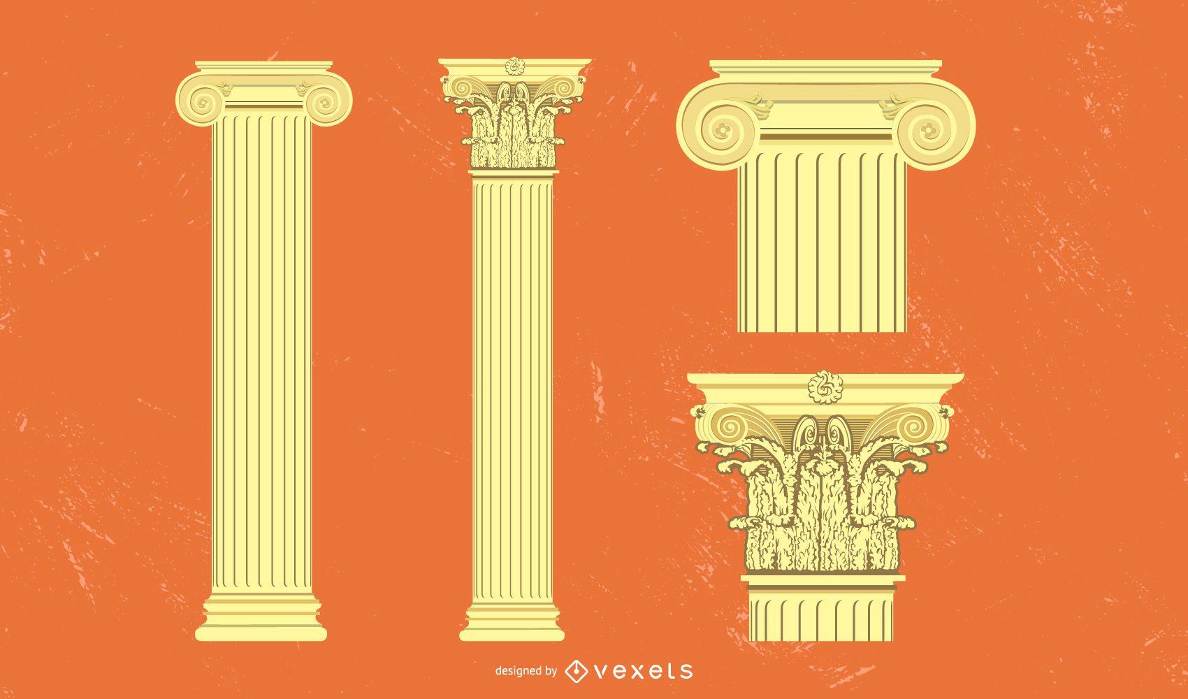Ancient Temple Columns