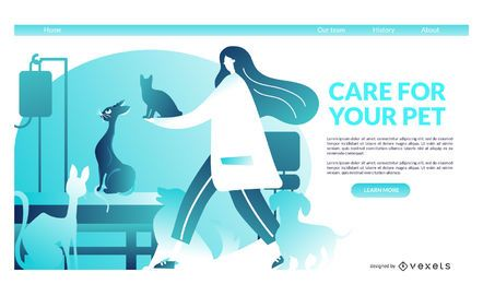 Vet landing page template
