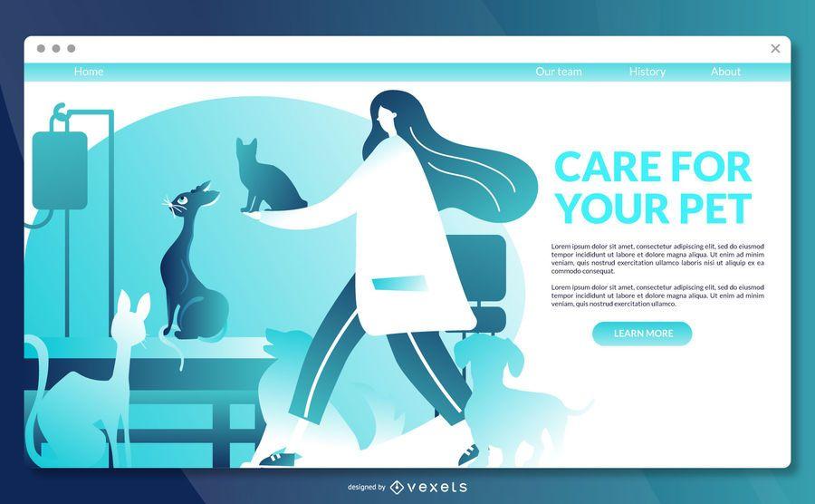 Tierarzt Landing Page Vorlage