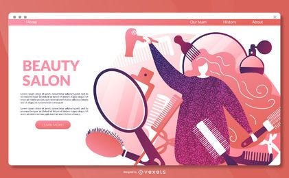 Beauty-Salon-Landing-Page-Vorlage