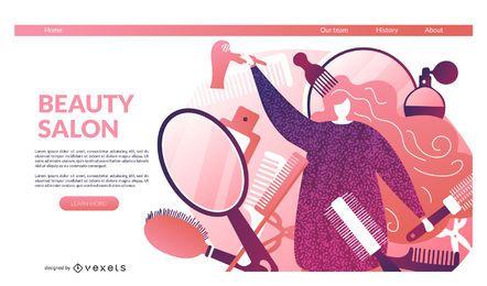 Beauty salon landing page template