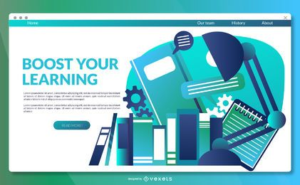 Learning landing page template
