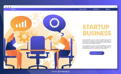 Startup business landing page template