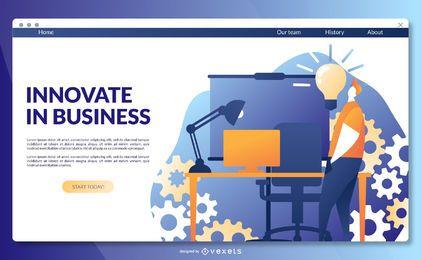 Inove o modelo da página de destino dos negócios