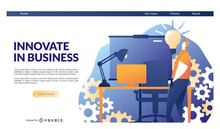 Innovate business landing page template
