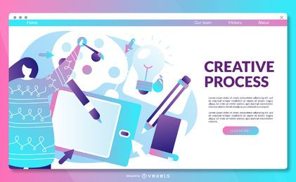Creative-Prozess-Landingpage-Vorlage