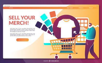 Plantilla de página de destino de merchandising